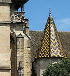 VMI Vincentian Heritage Tour: Members of the VMI tour the Hospices de Beaune or Hôtel-Dieu de Beaune, with their roofs featuring glazed-tile, Wednesday, June 29, 2016. (DePaul University/Jamie Moncrief)