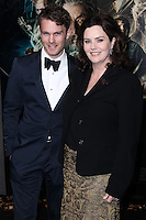 "HOLLYWOOD, CA - DECEMBER 02: Calum Gittins, Philippa Boyens arriving at the Los Angeles Premiere Of Warner Bros' ""The Hobbit: The Desolation Of Smaug"" held at Dolby Theatre on December 2, 2013 in Hollywood, California. (Photo by Xavier Collin/Celebrity Monitor)"