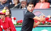 Dominic Thiem, Austria, during Madrid Open Tennis 2018 match. May 12, 2018.(ALTERPHOTOS/Acero) /NORTEPHOTOMEXICO