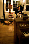 November 21, 2008. Raleigh, NC..Musician Thad Cockrell, at his home in Raleigh, NC.