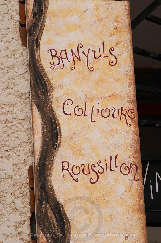 Wine shop. Banyuls, Collioure, Roussillon. Banyuls sur Mer, Roussillon, France