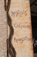 Wine shop. Banyuls, Collioure, Roussillon. Banyuls sur Mer, Roussillon, France