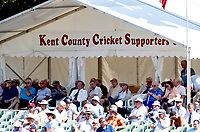 Kent County Cricket supporters tent during the County Championship Division 2 game between Kent and Leicestershire (Day 2) at the St Lawrence ground, Canterbury, on Mon July 23, 2018