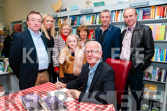 "The Lost Tribe Launch: Fr. William King, Kilflynn & Dublin singing copies of his new book ""The Losr Tribe"" which was launched by DR. Declan Downey at Woulfe's Book shop, Listowel on Friday nigh last.  L-R: Dr. Declan Downey, Doreen Enright, Ina Culhane, Catherine Enright, Ann Enright, Fr. William King, Donal Enright & Peter Lavelle."