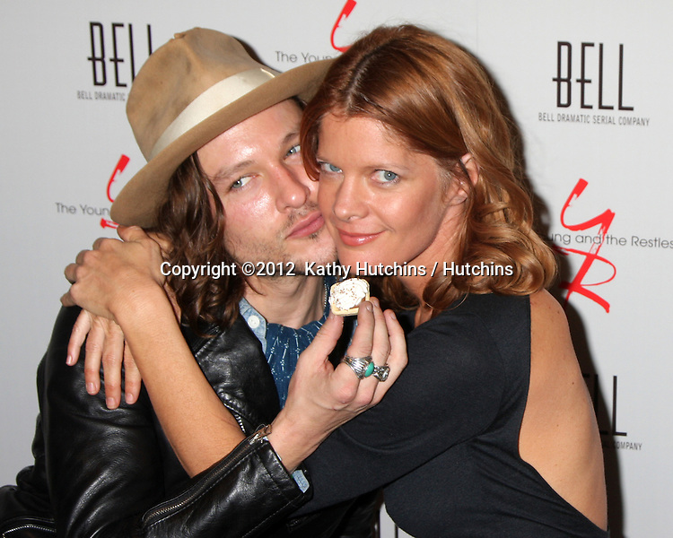 LOS ANGELES - MAR 16:  Michael Graziadei, Michelle Stafford arrives at the Young & Restless 39th Anniversary Party hosted by the Bell Family at the Palihouse on March 16, 2012 in West Hollywood, CA
