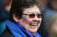 A general view of a Bath Rugby supporter in the crowd. Anglo-Welsh Cup Final, between Bath Rugby and Exeter Chiefs on March 30, 2018 at Kingsholm Stadium in Gloucester, England. Photo by: Patrick Khachfe / Onside Images
