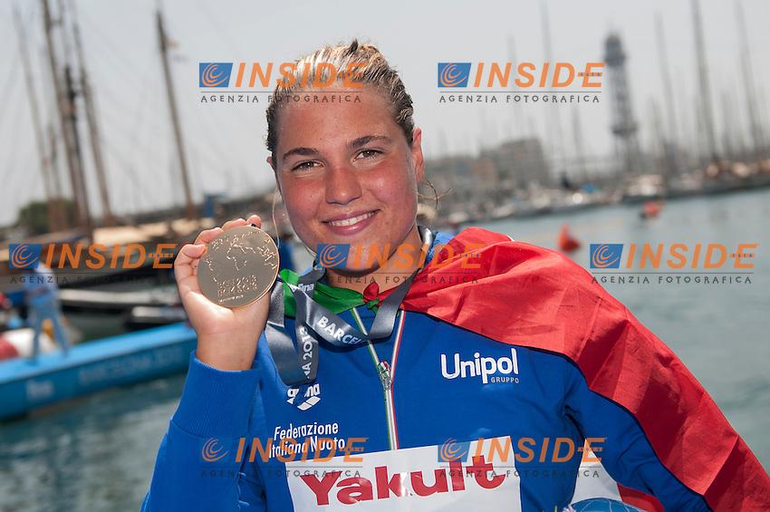 Martina Grimaldi ITA<br /> Women 25 km <br /> Open Water<br /> 15th FINA World Aquatics Championships<br /> Barcelona 19 July - 4 August 2013<br /> Barcelona (Spain) 27/07/2013 <br /> &copy; Giorgio Perottino / Deepbluemedia.eu / Insidefoto