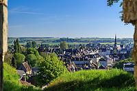 France, Loir-et-Cher (41), Montoire-sur-le-Loir, la ville vu depuis les ruines du château // France, Loir et Cher, Montoire sur le Loir seen from the ruines of the castle