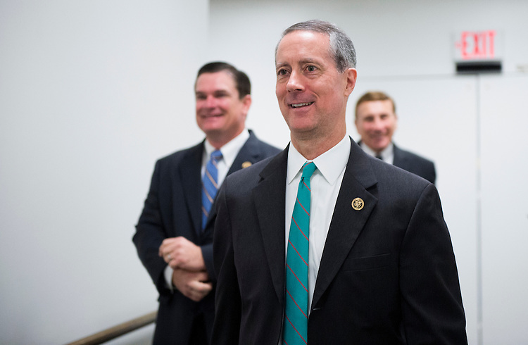 UNITED STATES - OCTOBER 27: House Armed Services chairman Mac Thornberry, R-Texas, leaves the House Republican Conference meeting in the basement of the Capitol on Tuesday, Oct. 27, 2015. (Photo By Bill Clark/CQ Roll Call)