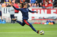 Houston, TX - Sunday April 8, 2018: Alex Morgan during an International friendly match versus the women's National teams of the United States (USA) and Mexico (MEX) at BBVA Compass Stadium.