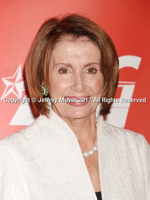 LOS ANGELES, CA - FEBRUARY 10: Minority Leader of the United States House of Representatives Nancy Pelosi attends MusiCares Person of the Year honoring Tom Petty at the Los Angeles Convention Center on February 10, 2017 in Los Angeles, California.