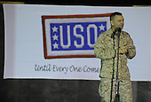 Vice Chairman of the Joint Chiefs of Staff United States Marine General James E. Cartwright addresses the crowd during a USO show at Camp Liberty, Iraq, November 14, 2008. Cartwright was on the fifth leg of a trip, which had included Greenland, Alaska, Korea and Afghanistan. Cartwright is a target of a Justice Department investigation into a leak of information about a covert U.S.-Israeli cyberattack on Iran's nuclear program.  <br /> Mandatory Credit: Adam M. Stump / DoD via CNP