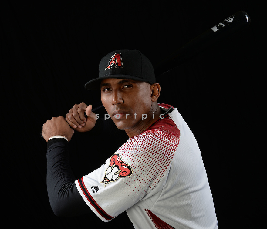 Arizona Diamondbacks Joaquin Arias (1) during photo day on February 28, 2016 in Scottsdale, AZ.