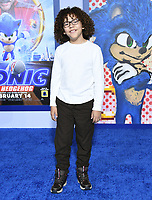 """12 February 2020 - Los Angeles, California - Ethan William Childress. """"Sonic the Hedgehog"""" Los Angeles Premiere held at the Regency Village Theater. Photo Credit: Birdie Thompson/AdMedia"""