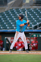 Miami Marlins J.D. Orr (9) at bat during an Instructional League game against the Washington Nationals on September 25, 2019 at Roger Dean Chevrolet Stadium in Jupiter, Florida.  (Mike Janes/Four Seam Images)