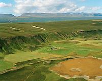 Höskuldsstaðir séð til norðvesturs, Þingeyjarsveit áður Reykdælahreppur / Hoskuldsstadir viewing northwest, Thingeyjarsveit former Reykdaelahreppur.