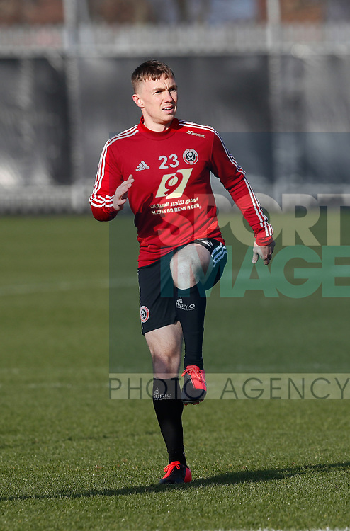 Ben Osborn of Sheffield Utd during the Press Conference & Training at the Steelphalt Academy, Sheffield. Picture date: 7th February 2020. Picture credit should read: Simon Bellis/Sportimage