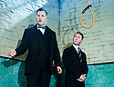 Hangmen by Martin McDonagh, directed by Matthew Dunster. With David Morrissey as Harry, Reece Shearsmith as Syd. Opens at The Royal Court Jerwood Theatre Downstairs on 18/9/15. CREDIT Geraint Lewis