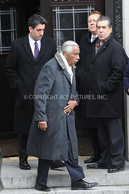 WWW.ACEPIXS.COM . . . . . .February 4, 2013...New York City....Charles B. Rangel  following funeral services at Manhattan's Temple Emanu-El on February 4, 2013 in New York City.....Please byline: KRISTIN CALLAHAN - WWW.ACEPIXS.COM.. . . . . . ..Ace Pictures, Inc: ..tel: (212) 243 8787 or (646) 769 0430..e-mail: info@acepixs.com..web: http://www.acepixs.com .