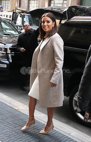 NEW YORK, NY- FEBRUARY 19: Eva Longoria at The View promoting her NBC TV series Telenovela on February 19, 2016 in New York City. Credit: RW/MediaPunch