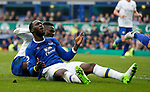 Romelu Lukaku of Everton reacts after failing to score his ha trick during the English Premier League match at Goodison Park Stadium, Liverpool. Picture date: April 9th 2017. Pic credit should read: Simon Bellis/Sportimage