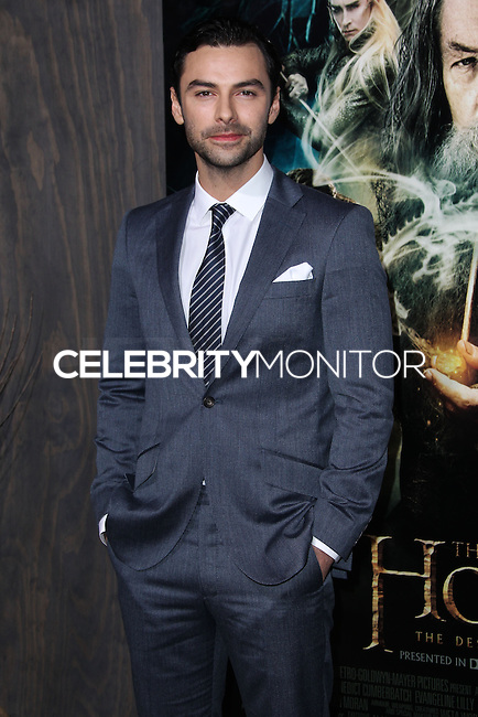 "HOLLYWOOD, CA - DECEMBER 02: Aiden Turner arriving at the Los Angeles Premiere Of Warner Bros' ""The Hobbit: The Desolation Of Smaug"" held at Dolby Theatre on December 2, 2013 in Hollywood, California. (Photo by Xavier Collin/Celebrity Monitor)"