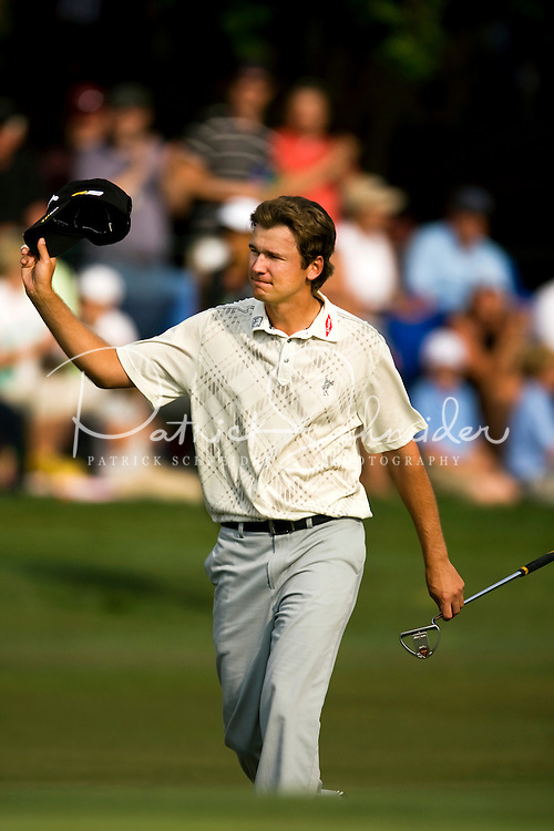 Golfer Sean O'Hair works the course during the Quail Hollow Championship golf tournament 2009. The event, formerly called the Wachovia Championship, is a top event on the PGA Tour, attracting such popular golf icons as Tiger Woods, Vijay Singh and Bubba Watson. Photos from the final round in the Quail Hollow Championship golf tournament at the Quail Hollow Club in Charlotte, N.C., Sunday, May 03, 2009.