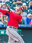 10 March 2015: Washington Nationals catcher Jose Lobaton in Spring Training action against the Miami Marlins at Roger Dean Stadium in Jupiter, Florida. The Marlins edged out the Nationals 2-1 on a walk-off solo home run in the 9th inning of Grapefruit League play. Mandatory Credit: Ed Wolfstein Photo *** RAW (NEF) Image File Available ***