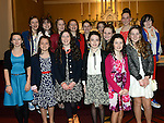 Some of the girls who were confirmed at the The Church of the Immaculate Conception Termonfeckin. Photo:Colin Bell/pressphotos.ie