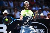 8th January 2018, ASB Tennis Centre, Auckland, New Zealand; ASB Classic, ATP Mens Tennis;  Joao Sousa (POR) during the ASB Classic ATP Men's Tournament Day 1