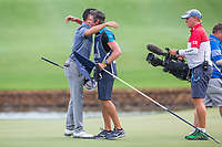 David Lipsky (USA) and caddy Nick Mumford on the 18th during the final round of the Alfred Dunhill Championship, Leopard Creek Golf Club, Malelane, South Africa. 16/12/2018<br /> Picture: Golffile | Tyrone Winfield<br /> <br /> <br /> All photo usage must carry mandatory copyright credit (&copy; Golffile | Tyrone Winfield)