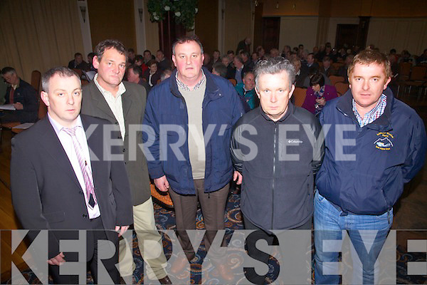 Pictured at the CAP meeting in the Ring of Kerry Hotel, Cahersiveen on Friday were l-r; Joe McCrohan(SKDP Rural Development Officer), Pat Driscoll(Chairman Agricultural Group), Donie Rua O'Sullivan(SKDP Agricultural Committee), John McCrohan(SKDP Rural Development Officer), and Paddy Casey(SKDP RSS Area Supervisor).