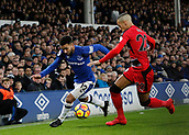 2nd December 2017, Goodison Park, Liverpool, England; EPL Premier League football, Everton versus Huddersfield Town; Aaron Lennon of Everton runs at Thomas Ince of Huddersfield Town