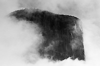 El Capitan in the Clouds, Yosemite ,  35mm image on Ilford Delta 100 film