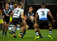 New Zealand's Roger Tuivasa-Shreck in action during the 2017 Rugby League World Cup quarterfinal match between New Zealand Kiwis and Fiji at Wellington Regional Stadium in Wellington, New Zealand on Saturday, 18 November 2017. Photo: Dave Lintott / lintottphoto.co.nz