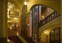 Europe/République Tchèque/Prague: La Maison Municipale-Edifice Art Nouveau qui se dresse  à l'emplacement de l'ancien Palais Royal -l'Escalier