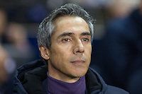Fiorentina Head Coach Paulo Sousa during the UEFA Europa League 2nd leg match between Tottenham Hotspur and Fiorentina at White Hart Lane, London, England on 25 February 2016. Photo by Andy Rowland / Prime Media images.