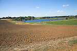 Irrigation lake, Sutton, Suffolk farming landscape scenery, East Anglia, England
