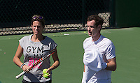 AMELIE MAURESMO (FRA), ANDY MURRAY (GBR)<br /> <br /> Tennis - BNP PA mier -  Indian Wells Tennis Garden - Indian Wells - California - United States of America  - 9 March 2015. <br /> &copy; AMN IMAGES