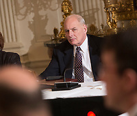 White House Chief of Staff John Kelly participates in a meeting with state and local officials regarding the Trump infrastructure plan, February 12, 2018 at The White House in Washington, DC. <br /> CAP/MPI/CNP/RS<br /> &copy;RS/CNP/MPI/Capital Pictures