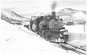 K-36 #486 at Crested Butte.<br /> D&amp;RGW  Crested Butte, CO  Taken by Richardson, Robert W. - 3/29/1952