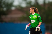 Boston Breakers goalkeeper Ashley Phillips (24). Sky Blue FC and the Boston Breakers played to a 0-0 tie during a National Women's Soccer League (NWSL) match at Yurcak Field in Piscataway, NJ, on July 13, 2013.
