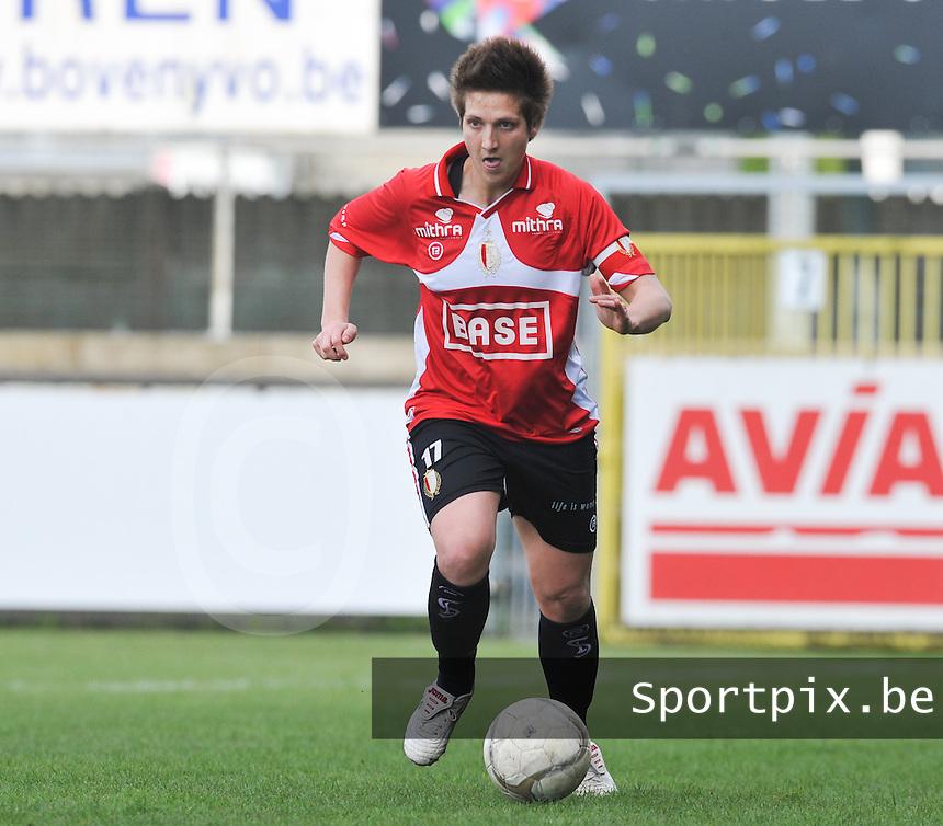 1/2 Halve finale Beker van Belgie ; Waasland Beveren Sinaai Girls - Standard Femina de Liege : Maud Coutereels.foto DAVID CATRY / Vrouwenteam.be
