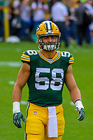 Green Bay Packers linebacker Jordan Tripp (58) during a preseason football game against the Philadelphia Eagles on August 10, 2017 at Lambeau Field in Green Bay, Wisconsin. Green Bay defeated Philadelphia 24-9.  (Brad Krause/Krause Sports Photography)