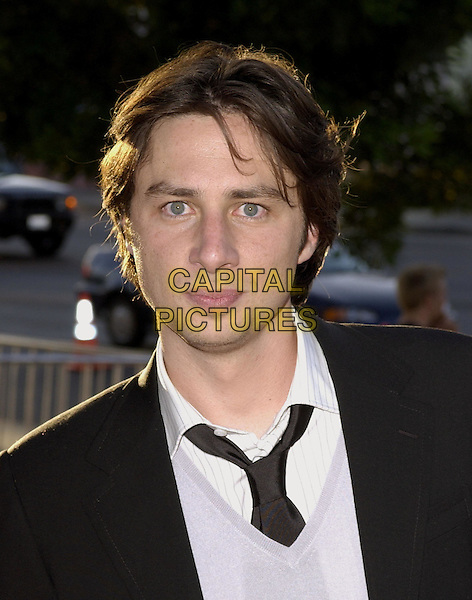 Zach Braff .At the Fox Searchlight Pictures' Los Angeles Premiere of Garden State held at The Directors Guild,.July 20th 2004..portrait headshot.Ref: DVS.www.capitalpictures.com.sales@capitalpictures.com.©Capital Pictures.