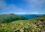 Appalachian Trail - Mount Adams from Gulfside Trail in the Presidential Range, of the White Mountains, New Hampshire USA. Felsenmeer barrens are in the foreground.