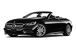 Stock pictures of low aggressive front three quarter view of 2019 Mercedes Benz S-Class - 2 Door Convertible Low Aggressive