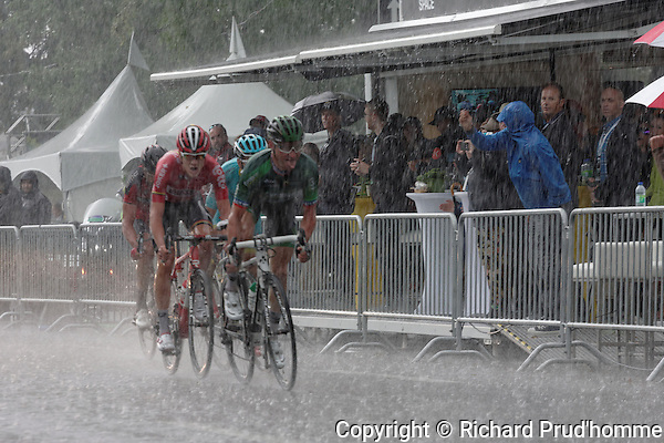 Riders compete against the rain and each other at the Grand Prix Cycliste World Tour race in Montreal
