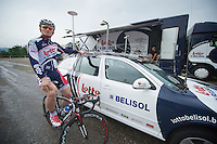 Tour de France 2012.Lotto-Belisol team prep.Liège.