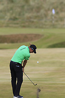 Marcel Siem (GER) plays his 3rd shot on the 15th hole during Friday's Round 2 of the 2018 Dubai Duty Free Irish Open, held at Ballyliffin Golf Club, Ireland. 6th July 2018.<br /> Picture: Eoin Clarke | Golffile<br /> <br /> <br /> All photos usage must carry mandatory copyright credit (&copy; Golffile | Eoin Clarke)
